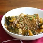 Beef Roast with Turnip Greens