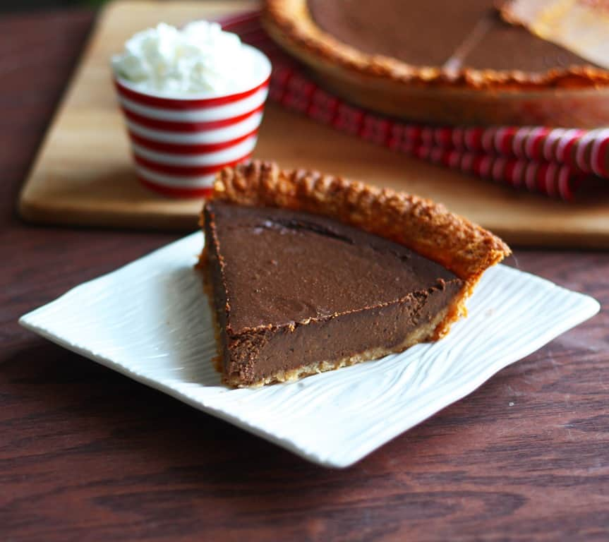 Recipe Redo-Chocolate Pumpkin Pie - Katrina Runs For Food