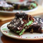 Minty Cheesecake Brownies-Gluten free