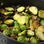 Roasted Brussels with Bacon and Shallots