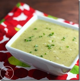 ~ginger zucchini soup