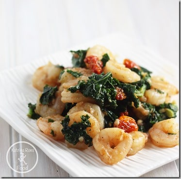 shrimp kale
