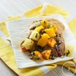 Chicken with Mango-Pineapple Salsa