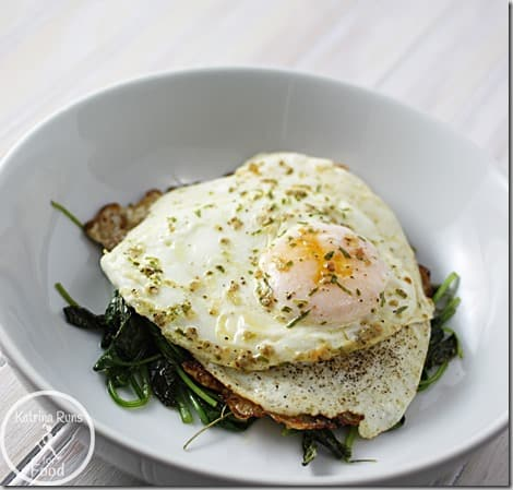 eggs spinach