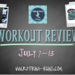 Workout Review and Marathon Training July 7-13