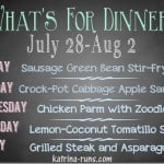 Weekly Meal Plan July 28-Aug 2