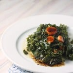 It's a Paleo Thanksgiving-Kale and Carrots with Balsamic Brown Butter Reduction