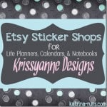 Etsy Planner Sticker Shops-Krissyanne Designs