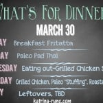 Weekly Menu March 30
