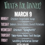 Weekly Menu March 9