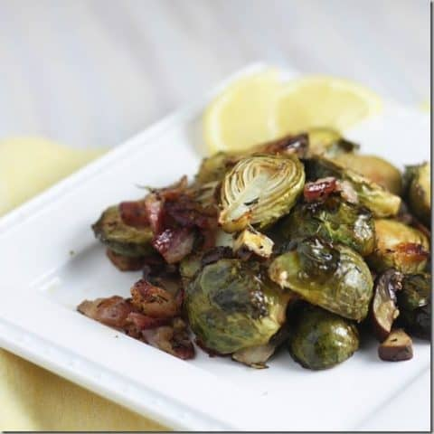 Lemony Bacon Brussels Sprouts