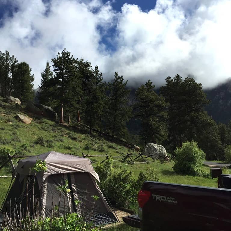 Aspen Glen Campground In Rocky Mountain National Park