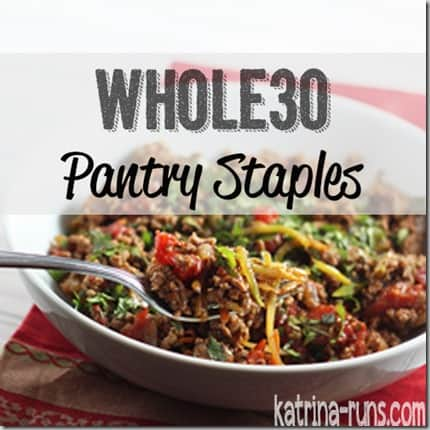 whole30 pantry