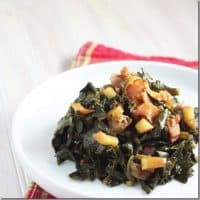 Apple-Bacon Collard Greens