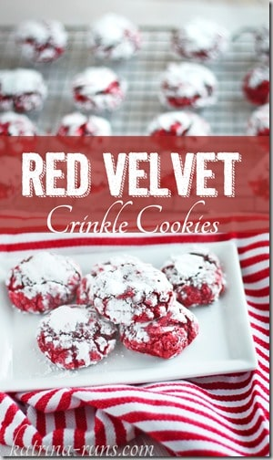 red velvet crinkles pinterest