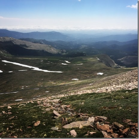 Mt. Evans descent