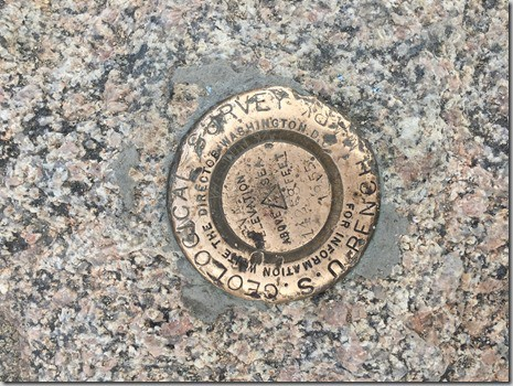Mt. Evans summit marker