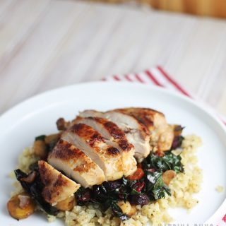 Chicken and Rainbow Chard with carrots is quick and Whole30 compliant.