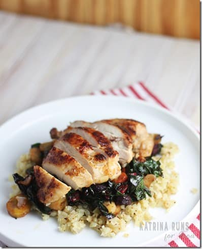 chicken chard stir fry~
