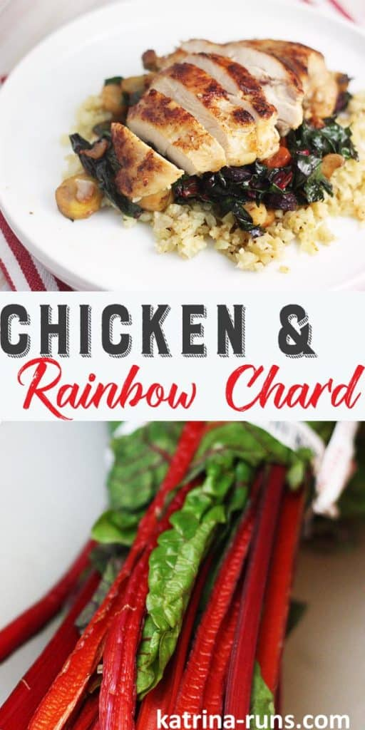 Chicken and Rainbow Chard is a perfect easy meal that is Whole30 compliant!