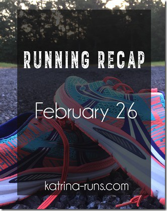 Running recap feb 26