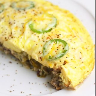 Keto Sausage Jalapeno Frittata is easy and flavorful for a Keto diet plan.