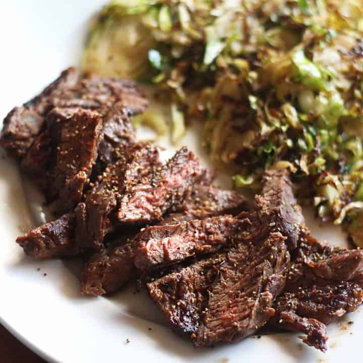 Skirt Steak and Brussels