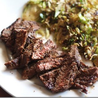 Skirt Steak and Brussels is an easy recipe for Paleo, Keto, or Whole 30 plans.