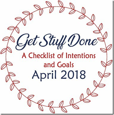2018 Get Stuff Done april