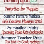 Coming Up in July