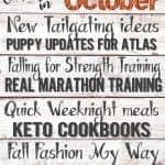 Coming Up in October