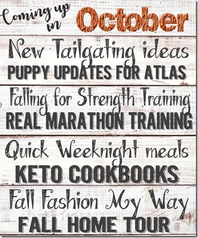 Coming up october