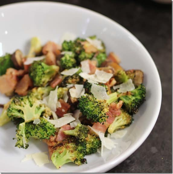 bacon vegetables