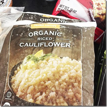 trader joes riced cauliflower