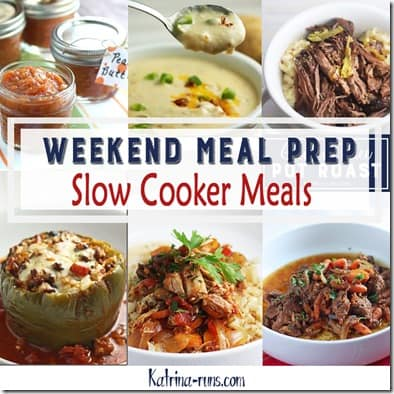 2019 Weekend Meal Prep slow cooker