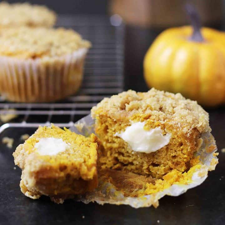 Gluten Free Pumpkin Cream Cheese Muffins