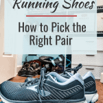 """graphic with """"choosing the right running shoes"""""""